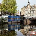 City Of Amsterdam Cityscape by Artur Bogacki