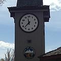 City Of Jackson Hole Clock by Shawn Hughes