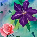 Clematis And The Rose by Jackie Curtis