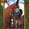 Cleveland Bay Horse Christmas Card by Olde Time  Mercantile