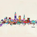 Cleveland Ohio Skyline by Bri Buckley