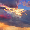 Cloudscape Sunset Touch Of Blue by James BO  Insogna