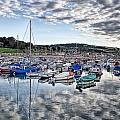 Cloudy Morning - Lyme Regis Harbour by Susie Peek