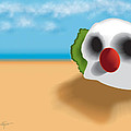 Clown Skull In The Desert by Del Gaizo