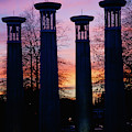 Colonnade In A Park At Sunset, 95 Bell by Panoramic Images