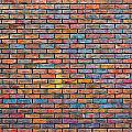 Colorful Brick Wall Texture by Dutourdumonde Photography