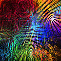Colorful Psychedelic Abstract Fractal Art by Keith Webber Jr