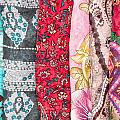 Colorful Scarves by Tom Gowanlock