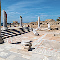 Columns In Archaeological Site by Panoramic Images