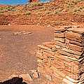 Community Room At Wupatki Pueblo In Wupatki National Monument by Fred Stearns