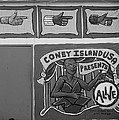 Coney Island Alive In Black And White by Rob Hans
