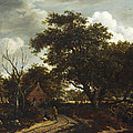 Cottages In A Wood by Meindert Hobbema