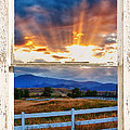 Country Beams Of Light Barn Picture Window Portrait View  by James BO  Insogna