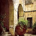 Courtyard In Capri by Julie Palencia