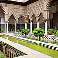 Courtyard Of The Maidens In Alcazar Palace Of Seville by Artur Bogacki