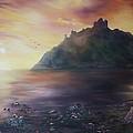 Criccieth Castle North Wales by Jean Walker