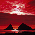 Crimson Sunset by Mountain Dreams