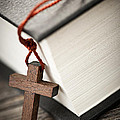 Cross And Bible by Elena Elisseeva