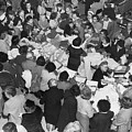 Crowds In Ohrbach's Store by Underwood Archives