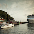 Cruise Ship At Port, Kingstown, Saint by Panoramic Images