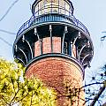 Currituck Beach Lighthouse On The Outer Banks Of North Carolina by Alex Grichenko