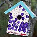 Cute Little Birdhouse by Carol Leigh
