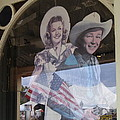 Dale Evans Roy Rogers Cardboard Cut-outs Flag Reflection Helldorado Days Tombstone 2004 by David Lee Guss