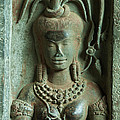 Dancing Goddesses Carving At Angkor Wat Cambodia by Fototrav Print