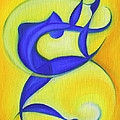 Dancing Sprite In Yellow And Blue by Tiffany Davis-Rustam