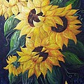 Dancing Sunflowers  by Eloise Schneider Mote