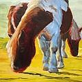Dartmoor Ponies Painting by Mike Jory