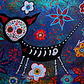 Day Of The Dead Chihuahua by Pristine Cartera Turkus