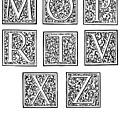 Decorative Initials, C1600 by Granger