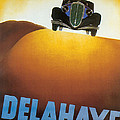 Delahaye Cars - Vintage Poster by World Art Prints And Designs