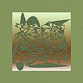 Delicate Green Stroke by Mihaela Stancu