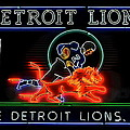 Detroit Lions Football by Frozen in Time Fine Art Photography
