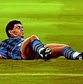Diego Maradona 2 by Paul Meijering
