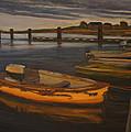 Dingys Pierside by Jeremy McKay