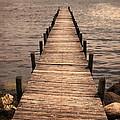 Dock On Mountain Lake by Jill Battaglia