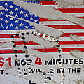 1 Dollar For Four Minutes Sign Telephone American Flag Eloy Arizona 2005 by David Lee Guss