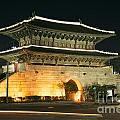 Dongdaemun Gate Landmark In Seoul South Korea by Jacek Malipan