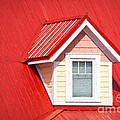 Dormer Window On Red Roof by Les Palenik