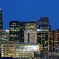 Downtown Denver At Dusk by Bill Cobb