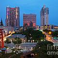 Downtown San Antonio Texas Skyline by Bill Cobb