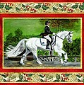 Dressage Horse Christmas Card by Olde Time  Mercantile