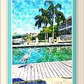 Dry Dock Bird Walk - Digitally Framed by Susan Molnar