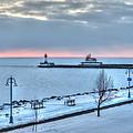 Duluth Winter Sunrise  by Shane Mossman