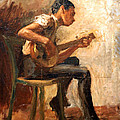 Eakins' Study For Negro Boy Dancing -- The Banjo Player by Cora Wandel
