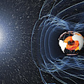 Earths Magnetic Field by Science Source