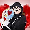 Eccentric Man Showing World Love By Cuddling Globe by Jorgo Photography - Wall Art Gallery